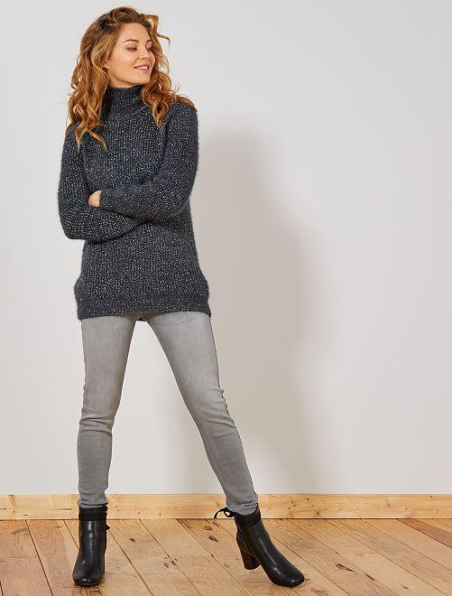 Jean skinny taille haute longueur US28                                                                             gris clair Femme