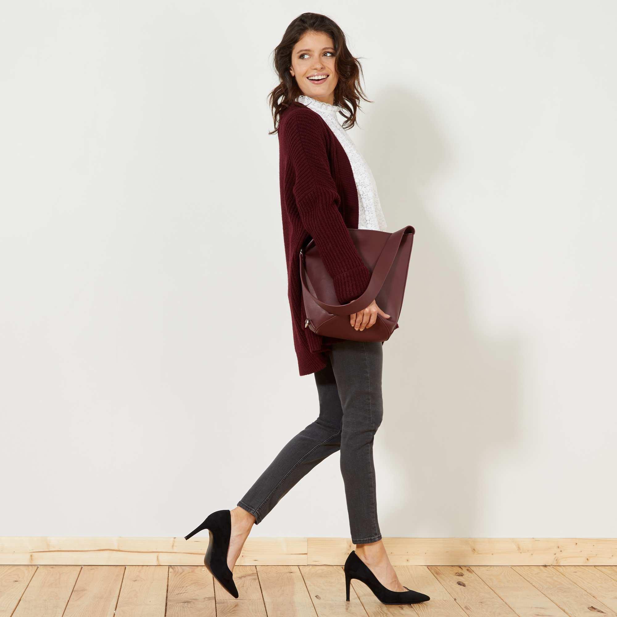 jean skinny taille haute longueur us28 femme gris kiabi 15 00. Black Bedroom Furniture Sets. Home Design Ideas