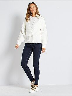 Jean skinny - Jean skinny taille très haute longueur US 30