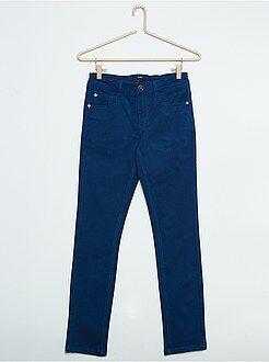 Garçon 10-18 ans - Jean slim bleu en coton stretch - Kiabi