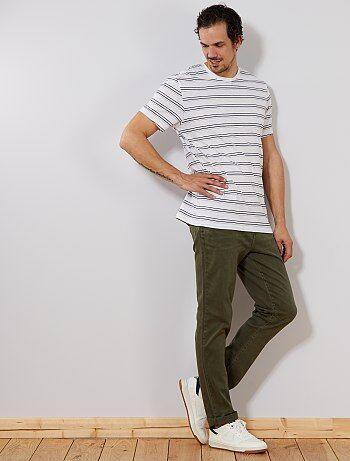 Jean slim couleur L36 +1m90 - Kiabi