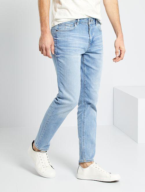 Jean slim éco-conçu                             bleach