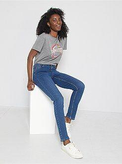Jean slim - Jean slim super taille haute - Longueur US 30