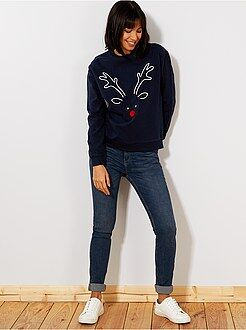 Jean slim - Jean slim super taille haute - Longueur US32