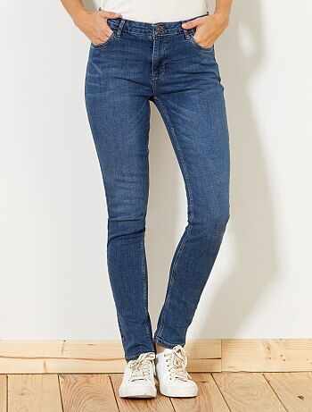 Femme du 34 au 48 - Jean slim taille haute - Longueur US 30 - Kiabi