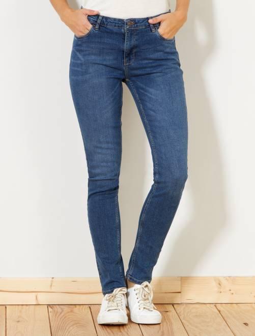 jean slim taille haute longueur us 30 femme stone kiabi 15 00. Black Bedroom Furniture Sets. Home Design Ideas