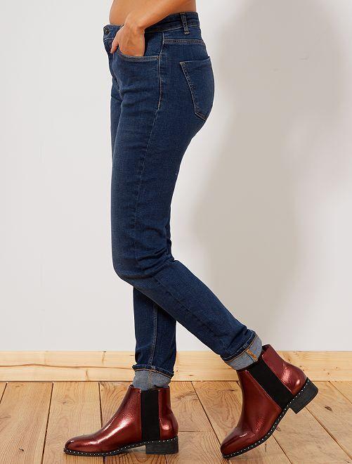 jean slim taille haute longueur us34 femme gris fonc kiabi 15 00. Black Bedroom Furniture Sets. Home Design Ideas