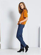 Jean taille haute coupe regular longueur US30