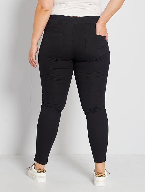 jegging skinny en denim stretch grande taille femme gris kiabi 15 00. Black Bedroom Furniture Sets. Home Design Ideas