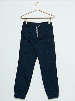Pantalon - Joggpant en twill