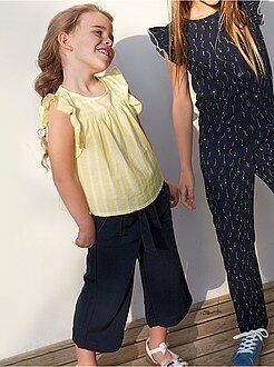 Fille 3-12 ans - Jupe culotte fluide unie - Kiabi