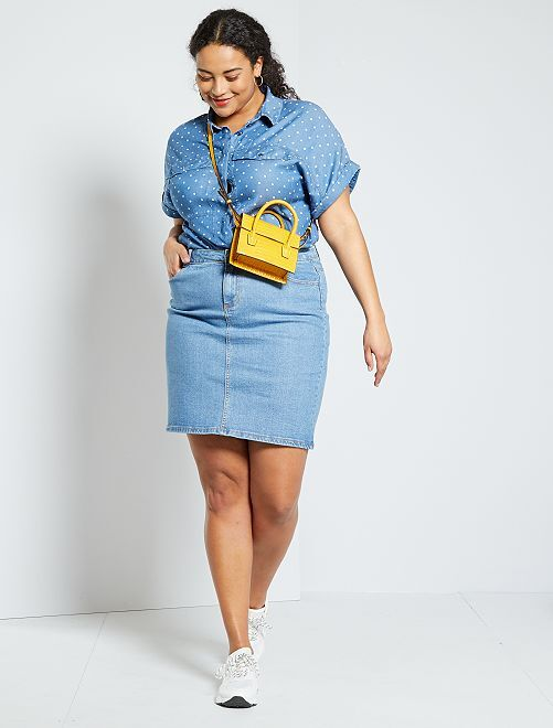 Jupe en jean éco-conçu                             bleu