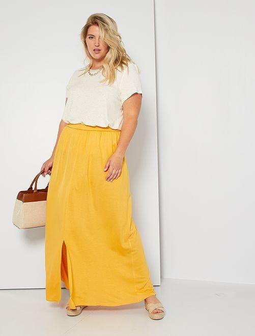Jupe longue avec fente                                         jaune