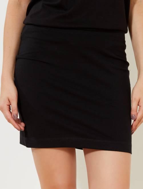 Jupe tube stretch                                          noir Femme