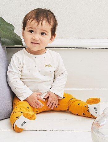 Legging coton imprimé gouttes - Kiabi