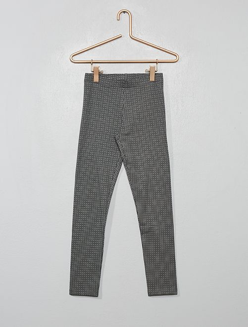 Legging imprimé                                                                                                     carreaux gris