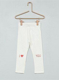 Fille 0-36 mois Legging imprimé coton stretch