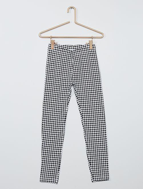 Legging imprimé 'pied de poule' éco-conçu                                                                                                                 noir/blanc