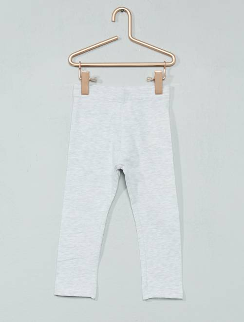Legging jersey stretch                                                                                                                 gris chiné Bébé fille