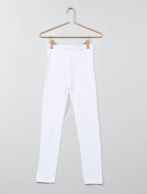 Legging stretch                                                                                                                             blanc Fille