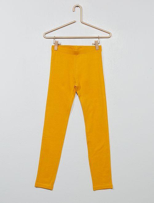 Legging stretch                                                                                                                             jaune Fille
