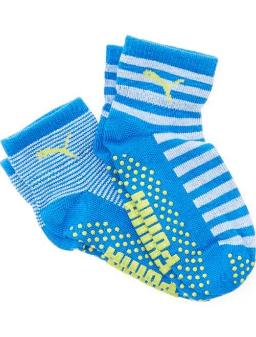 Lot 2 paires de chaussettes antidérapantes 'Puma'                                         bleu