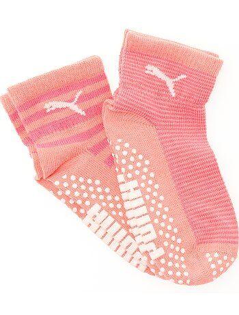 Lot 2 paires de chaussettes antidérapantes 'Puma' - Kiabi