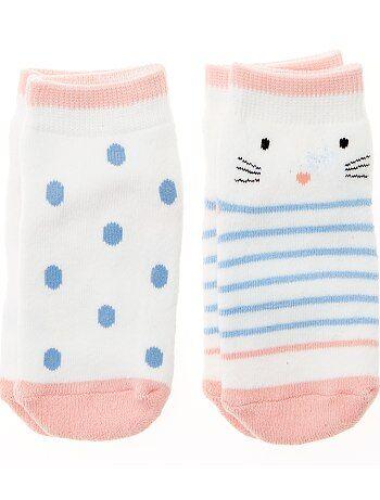 Lot 2 paires de chaussettes antidérapantes - Kiabi