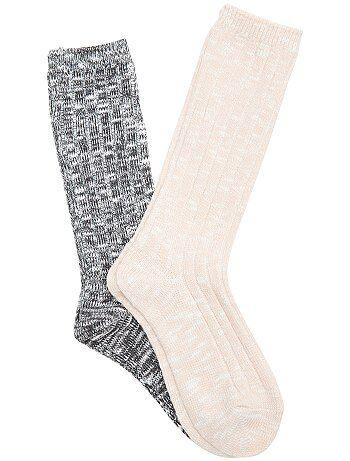 Lot 2 paires de chaussettes - Kiabi