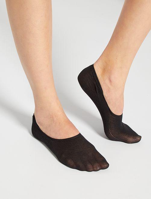 Lot 2 protège-pieds Invisifit 'DIM'                                         noir