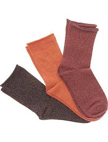 Lot 3 paire de chaussettes avec fibre métallique - Kiabi