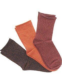 Lot 3 paire de chaussettes avec fibre métallique