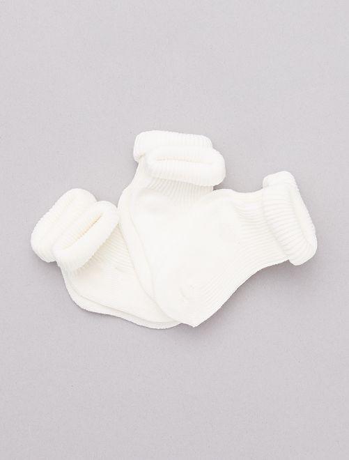 Lot 3 paires de chaussettes éco-conçues                                                                 blanc