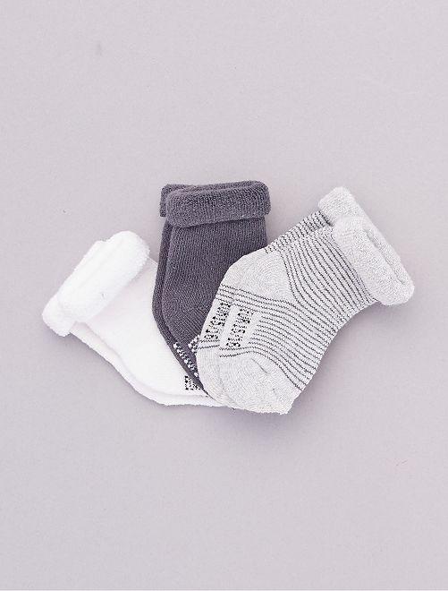 Lot 3 paires de chaussettes                                                                             gris