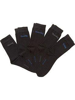 Homme du S au XXL Lot 5 paires de chaussettes 'jour de la semaine'