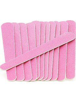 Accessoires rose - Lot de 12 petites limes à ongles