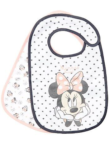Lot de 2 bavoirs 'Minnie Mouse' de 'Disney' - Kiabi