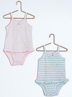 Sous-vêtement - Lot de 2 bodies à fines bretelles