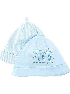 Prématuré - Lot de 2 bonnets naissance