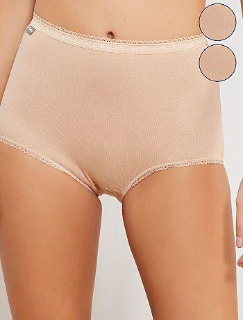 Lot de 2 culottes maxi coton stretch 'Playtex' - Kiabi