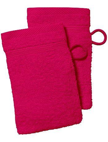 Lot de 2 gants de toilette - Kiabi