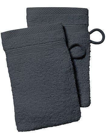Maison - Lot de 2 gants de toilette - Kiabi