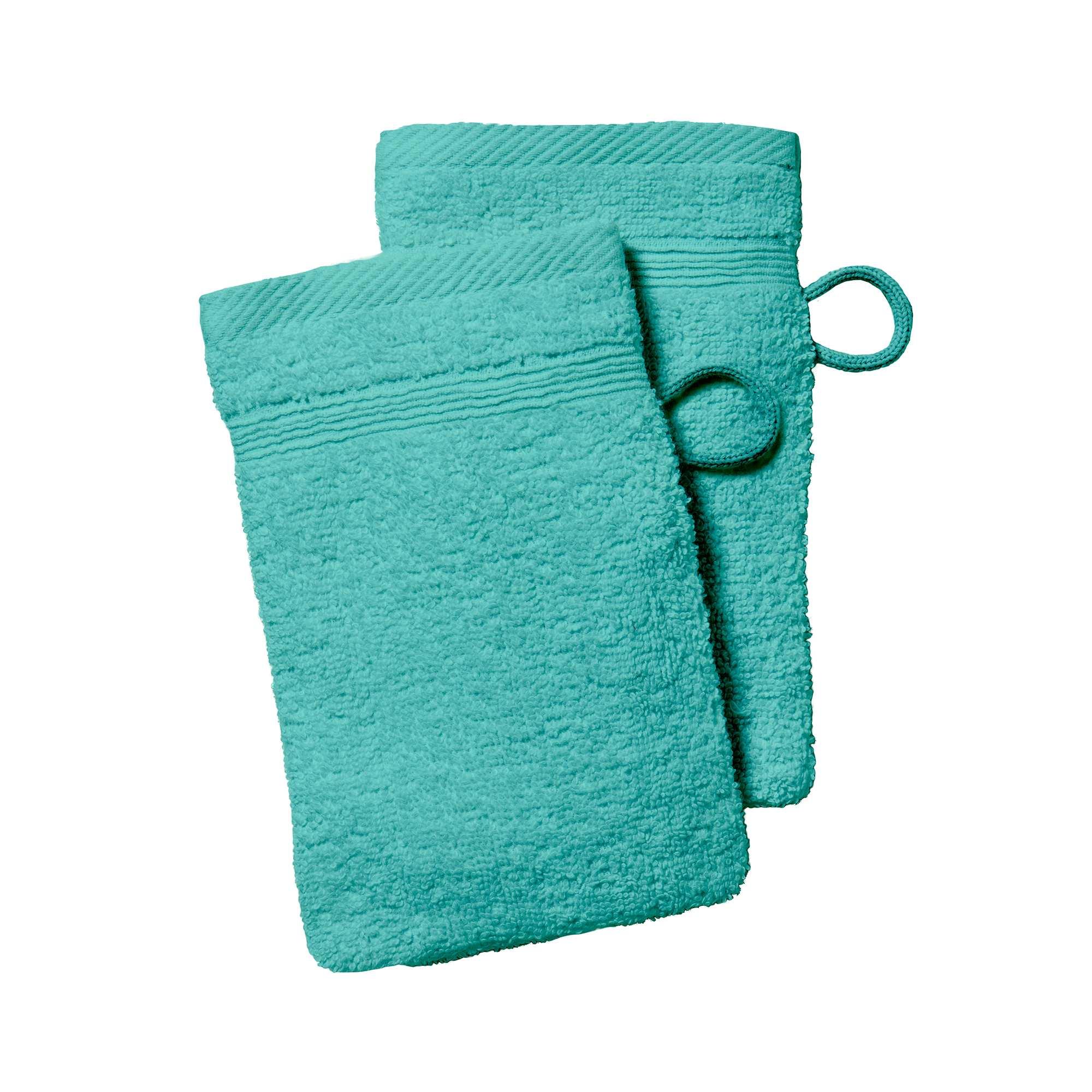 92e6d8beae27a Lot de 2 gants de toilette Linge de lit - vert menthe - Kiabi - 2,00€