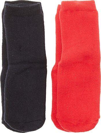 Lot de 2 paires de chaussettes antidérapantes - Kiabi