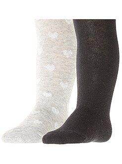 Collants, chaussettes - Lot de 2 paires de collants - Kiabi