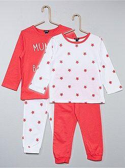 Lot de 2 pyjamas imprimés - Kiabi