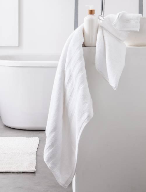 Lot de 2 serviettes 30 x 50 cm 500gr                                                                                                                     blanc