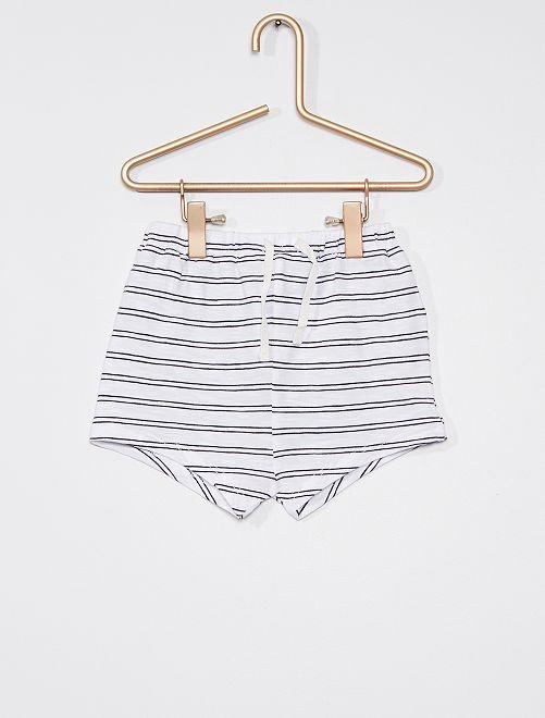 Lot de 2 shorts                                         blanc