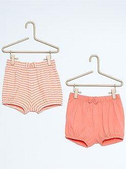 Short, bermuda - Lot de 2 shorts de plage en coton