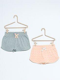 Lot de 2 shorts en coton
